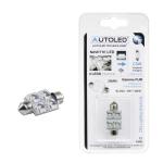 Autoled navette led c5w 39mm 4 leds blanc eclairage inerieur habitacle coffre ref 0141