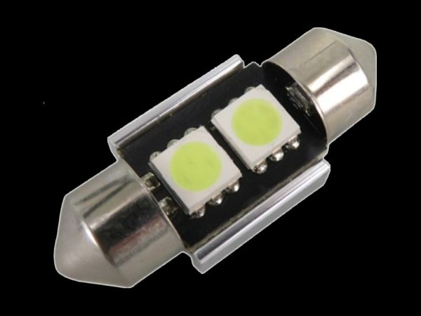 Navette LED blanc canbus 31mm 2 smd 5050 Autoled ref 0010